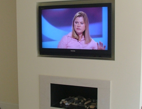 TV above fireplace Installation